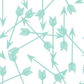 arrows scattered // mint simple nursery print