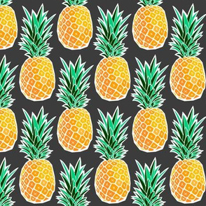 Tropical Geometric Pineapple - Dark Gray