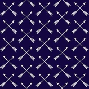 White on Navy Cross Arrow