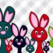 colorful_bunny_rabbit_family