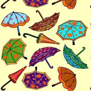 colorful playful umbrellas