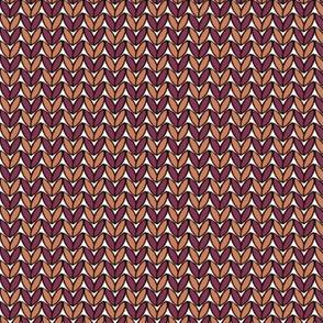Knit in Carrot/Burgundy