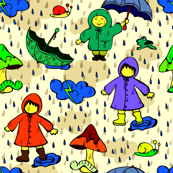 rainy-season children at play