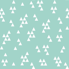 Simple Triangle - Pale Turquoise(Mint) by Andrea Lauren