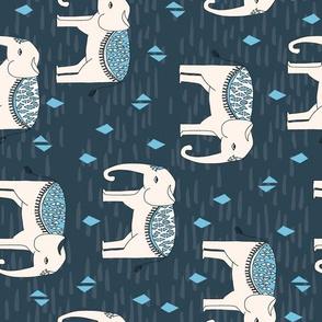 Elephant Parade - Parisian Blue/Champagne (Railroad) by Andrea Lauren