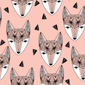 Fox Head - Pink by Andrea Lauren