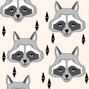 raccoon // off-white cream raccoon animal print sweet gender neutral animal print