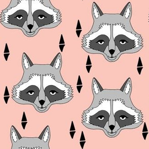 Raccoon Face - Pink by Andrea Lauren