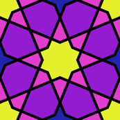 stained glass octagonal star mosaic