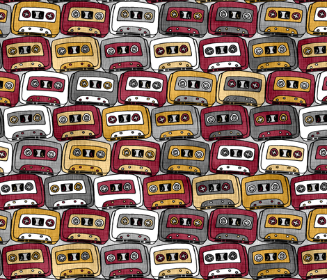Cassettes Silver, Red, & Gold