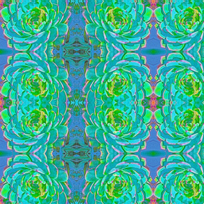 Cactus in Blues #1 Kaleidoscope