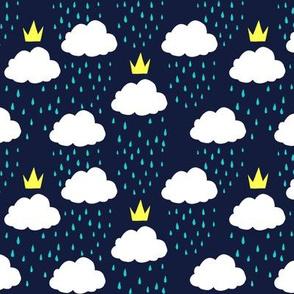 Royal Rain Clouds (Blue)