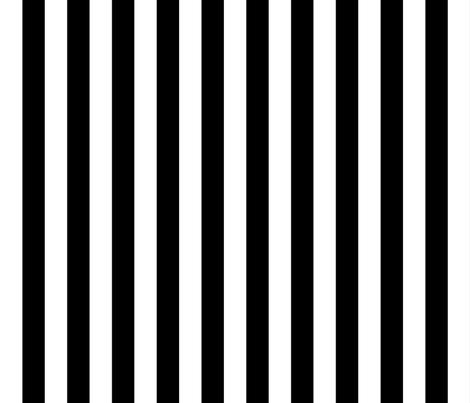 Stripes - Vertical - 1 inch (2.54cm) - Black (#000000) & White (#FFFFFF)