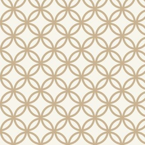 Fretwork circles, cream and caffe latte by Su_G
