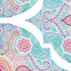 Ink and Symmetry in Rainbow Hues