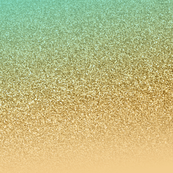 Glitter Gold Aqua Blue Gradient