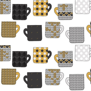 Coffee Mugs in Gold