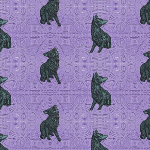 Coyote just in tile - blue moon nightshade