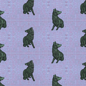 Coyote just in tile - pink paisley jade