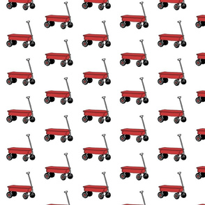 Little Red Wagon Allover Print