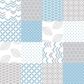 Cheater Quilt 4x4 Periwinkle Gray