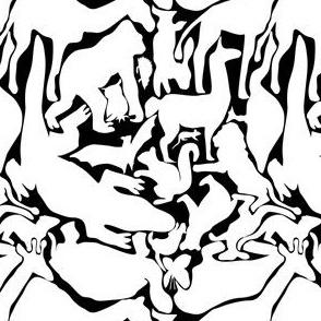 Animals Jigsaw, White