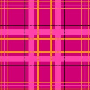 Mad Plaid in Hot Pink