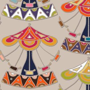 carousel damask
