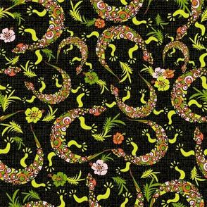 Circling Lizards