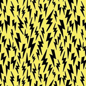lightning // bolt yellow halloween fabric yellow fabric andrea lauren design andrea lauren fabric