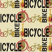 Vintage Bikes Go Riding