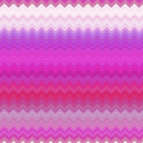 WATERCOLOR PUMPKINS CHEVRONS ZIG ZAG Pink Fushia Harmony