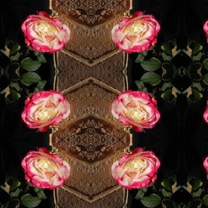 Sweet Double Delight  Roses - Vertical Stripe (Ref. 0845)
