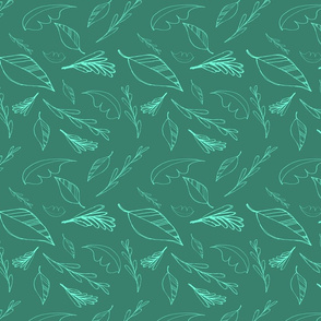 Teal Leaves