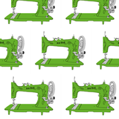 Sew Geek Sewing Machines in Green