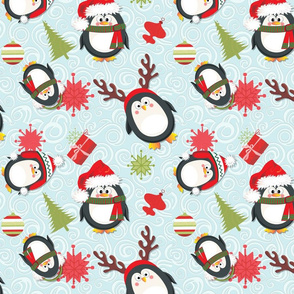 Holiday Penguins Christmas