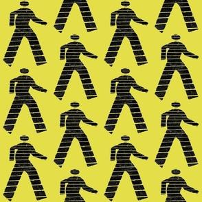 Walk man yellow
