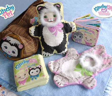 KitschyPet Kitschy Kitty Meets Spunky Skunky Plush Toys and Book