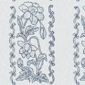 new-tjap116-vertical-floral-border-resized-vector-blgreyfabric5-lines-LTSILVERFEATHERS-wider-edge