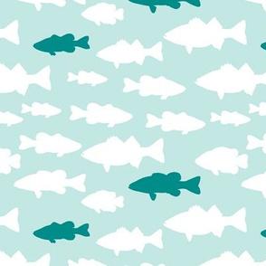 fish // teal