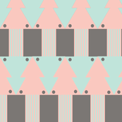 Interlocked Squids Mint&Pink