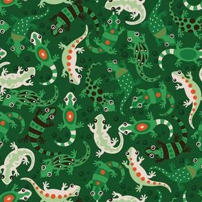 Lizard Loving Lush (green version)