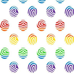 Rainbow Fingerprints on White