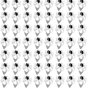 bellflower black and white