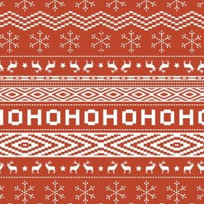 Ugly Christmas Sweater - Red (Small Scale)