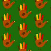 Green Handprint Turkeys
