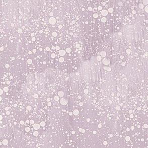 lilac-mauve rain splatter