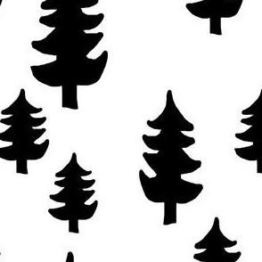 evergreen tree black