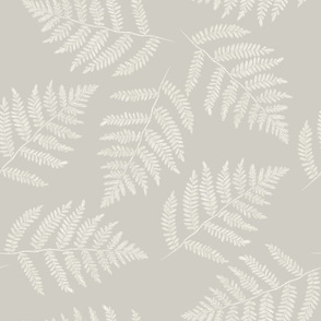 white ferns on hazel grey