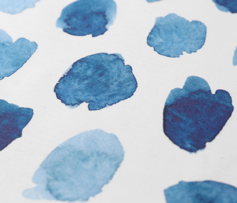 watercolor abstract shapes in blue